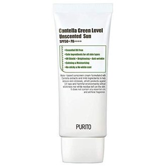 PURITO - Centella Green Level Unscented Sun, слънцезащитен крем, 60 ml