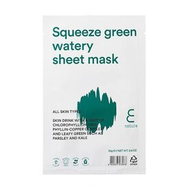 ENATURE Squeeze Green Watery Sheet Mask, шийт-маска за лице
