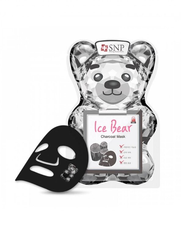 SNP Ice Bear Charcoal Mask, почистваща маска за лице с въглен