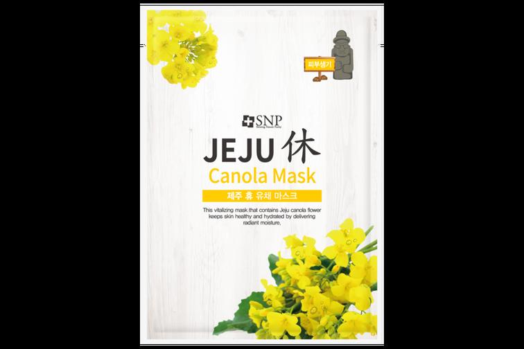 SNP Jeju Rest Canola Mask, маска за лице с екстракт от рапица
