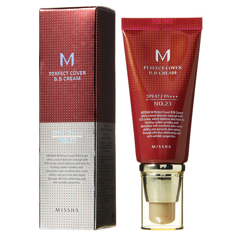 [Missha] M Perfect Cover BB Cream SPF42/PA+++ #23 Natural Beige, BB крем за лице