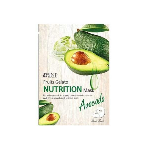 [SNP] Avocado Fruits Gelato Nutrition Mask, подхранваща..